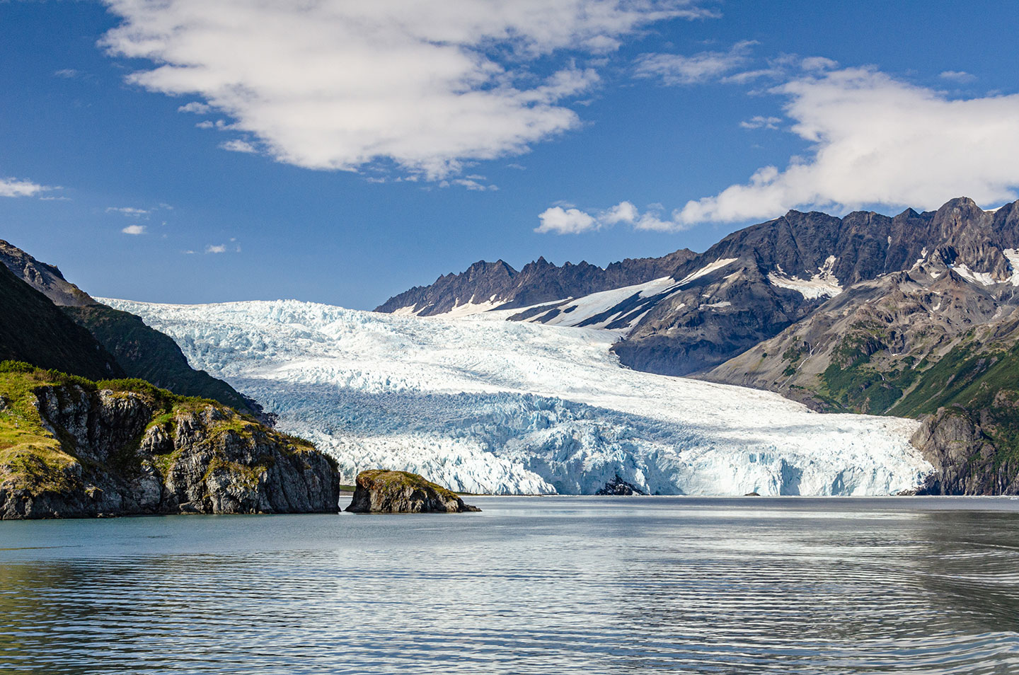 Aialik Glacier in Kenai Fjords National Park is an example of the challenging topography facing coastal mapping in Alaska. Photo courtesy of www.dorevorum.photography.