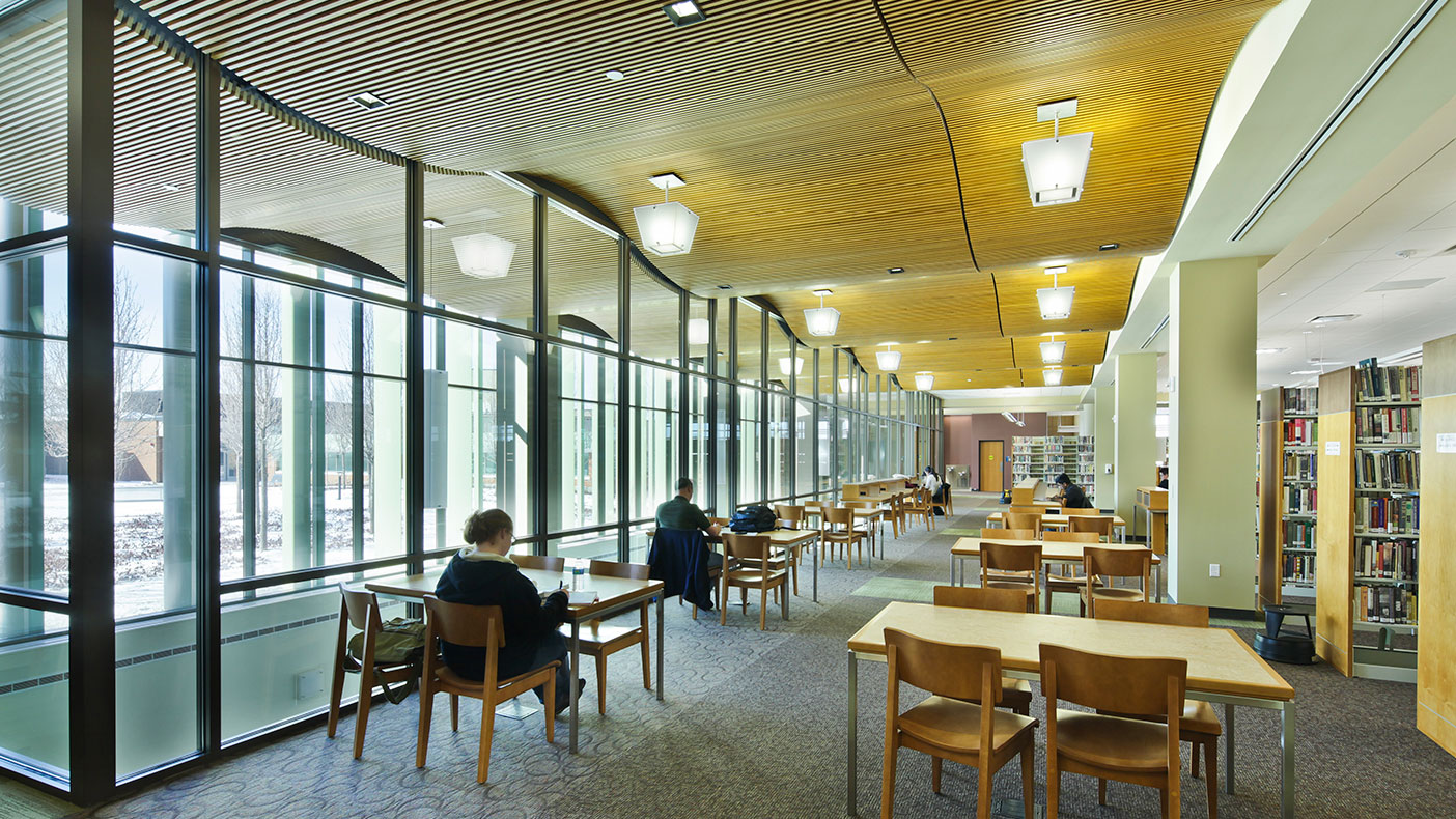 """The facility is a """"fusion building"""" which also houses the tutoring department, distance learning program, and Center for the Enhancement of Teaching and Learning."""