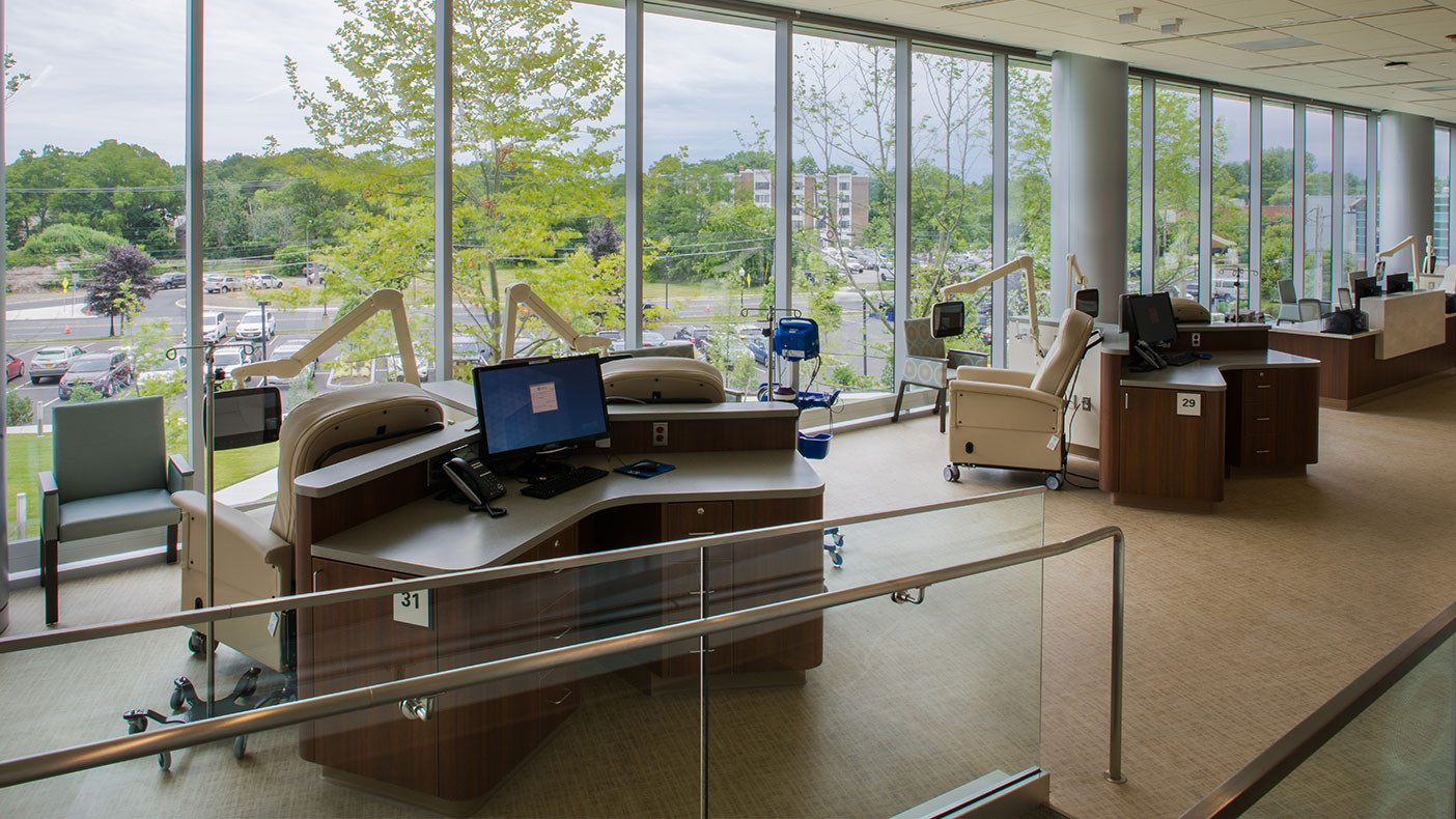 HOPE Tower on the center's east campus features state-of-the-art facilities and technologies to provide its patients the highest quality of care.