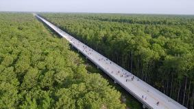 The new parkway extends from the North-Central Osceola County transportation system to Polk County. Photo courtesy of Kissimmee/Osceola County Chamber of Commerce. Chris Lee, Greenlando Consulting, photographer.