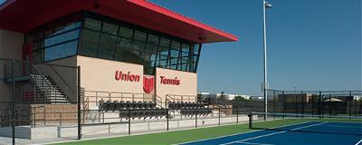 Union High School Tennis Center. Photo by Jon Petersen, courtesy of Dewberry.