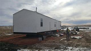 Pine Ridge Reservation housing site improvements. Photo by Marvin Davis, courtesy of Dewberry.