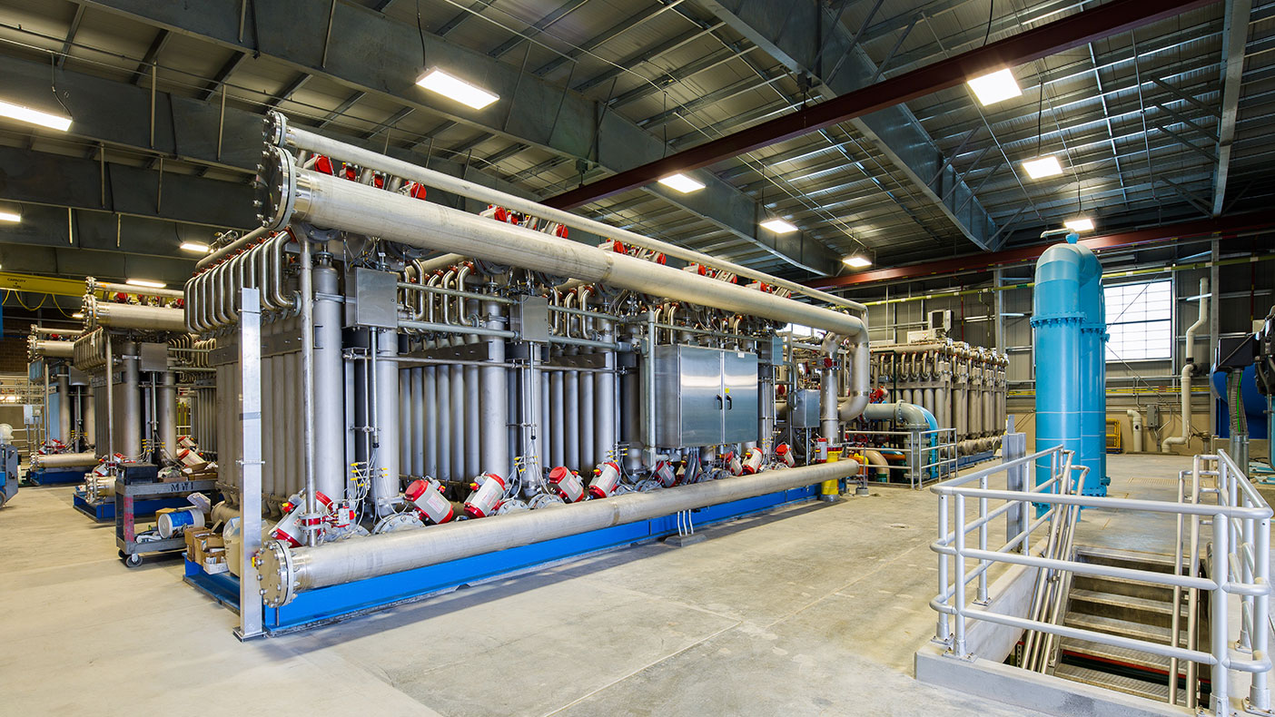 The Rueter-Hess Water Purification Facility is the nation's first, large-scale potable water treatment facility to use ceramic membrane filter technology.