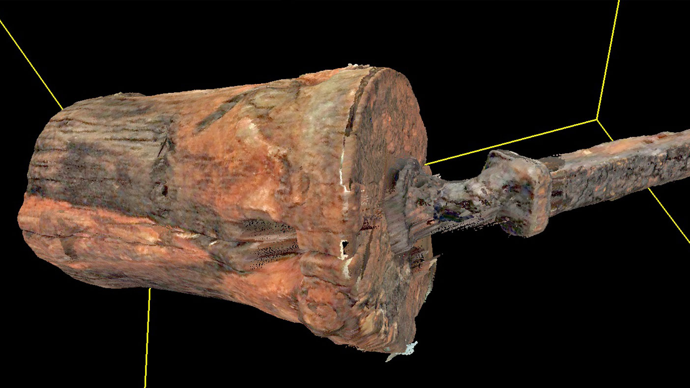 We used a laser scanner to capture and record coordinate data of each visible surface, obtaining each angle of the object.