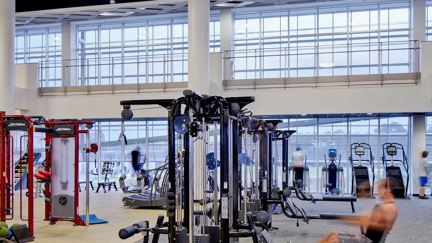 Expansive open-areas contain a variety of exercise equipment, from state-of-the-art cardio and weight machines to functional training equipment.